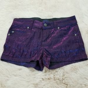 Tripp NYC Iridescent Shorts 25